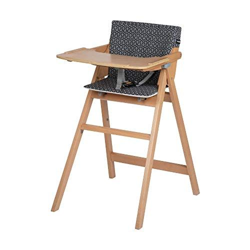 Safety 1st Nordik Chaise Haute Bebe Pliable En Bois Avec Coussin De 6 Mois A 3 Ans Geometric Chaise Haute Chaise Haute Bebe Chaise Haute Bois
