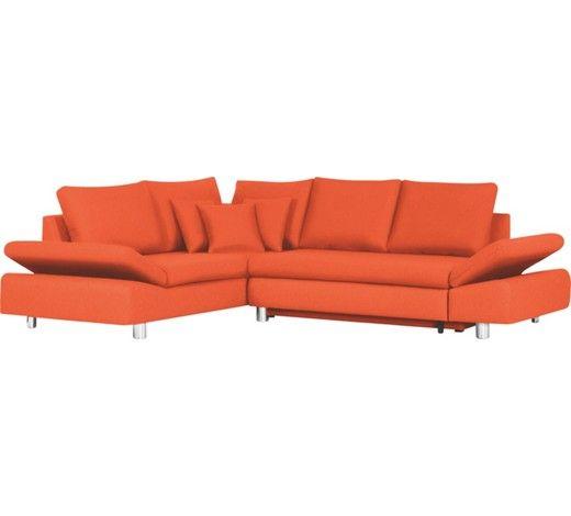 Stilvolle Wohnlandschaft In Trendigem Orange Von Carryhome Ruckenkissen Wohnen Zierkissen