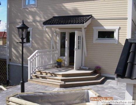 Entré. Plattläggning med trappa och belysning | Entrance | Pinterest