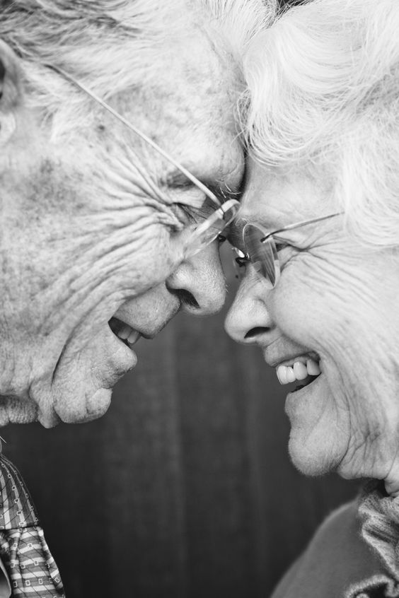 I really love the emotions that run through this picture and the shot that the photo has been taken at. Wouldn't it be wonderful to grow old together and still loving each other that much!