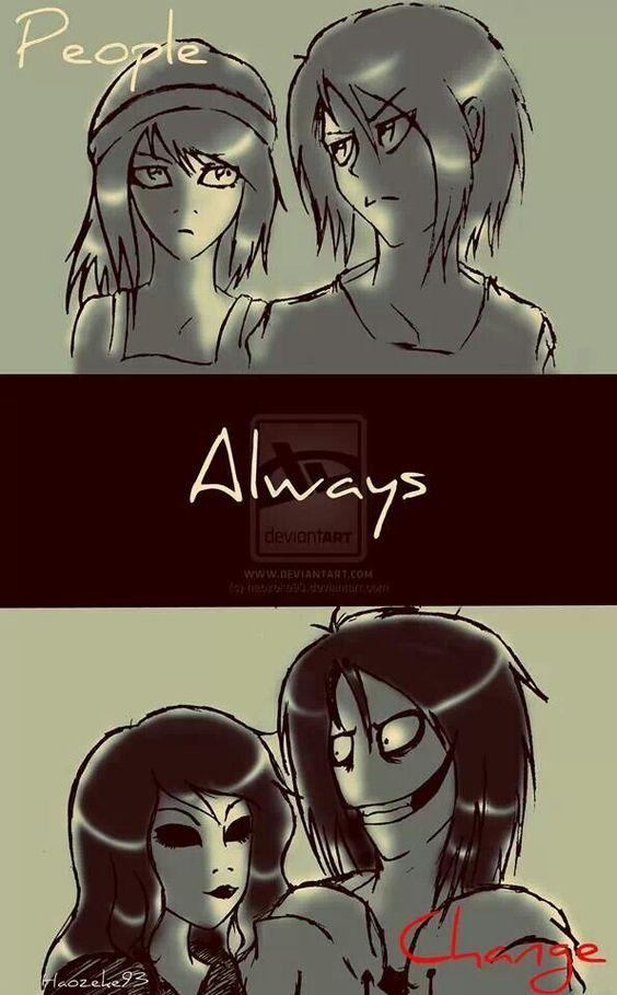 People always change