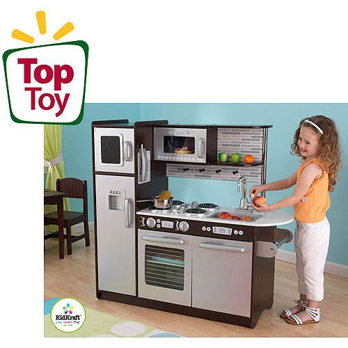 Espresso so cute and plays on pinterest - Walmart play kitchen kidkraft ...