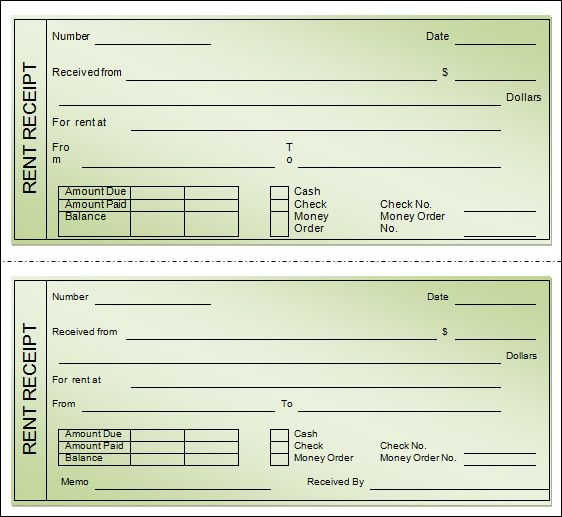 How To Fill Out Money Rent Receipt Book