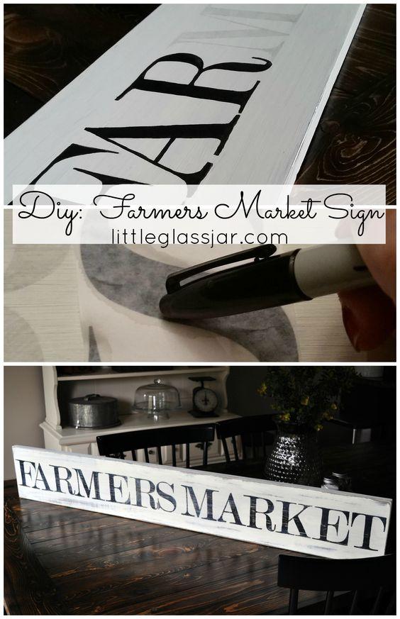 DIY: Farmers Market sign www.littleglassjar.com