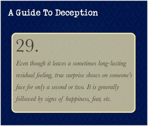 A Guide To Deception — The click-through link sends to a rather excellent...