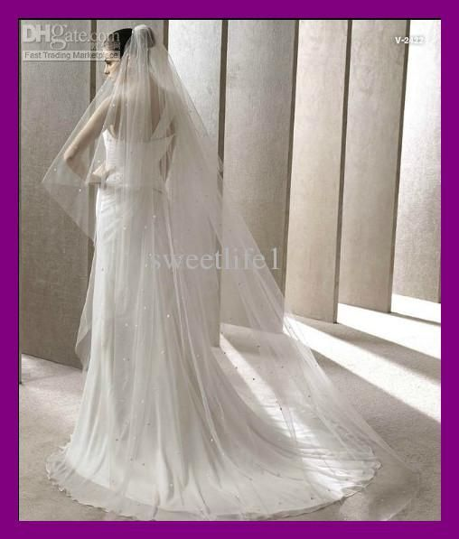 Wholesale Gown Dress - Buy 2012 Fashion Long Sequins Beaded Veil Organza Custom 3M Wedding Bridal Veil Gown Dress, $43.07 | DHgate