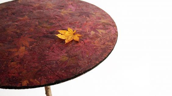 LEXUS DESIGN AWARD 2016 作品名:Bio-Vide 受賞者:山崎 卓馬(日本) 作品概要:「土に還る」というコンセプトを視覚化し、落ち葉で作成したテーブルや封筒。