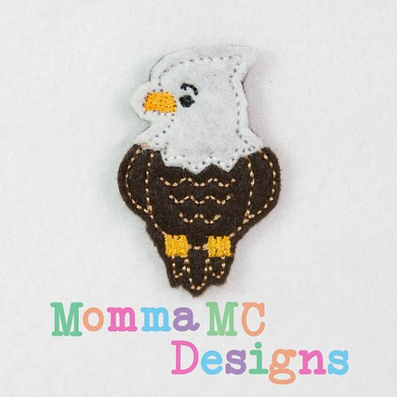 Bald Eagle Felt Feltie Embroidery Design by MommaMC on Etsy, $3.00