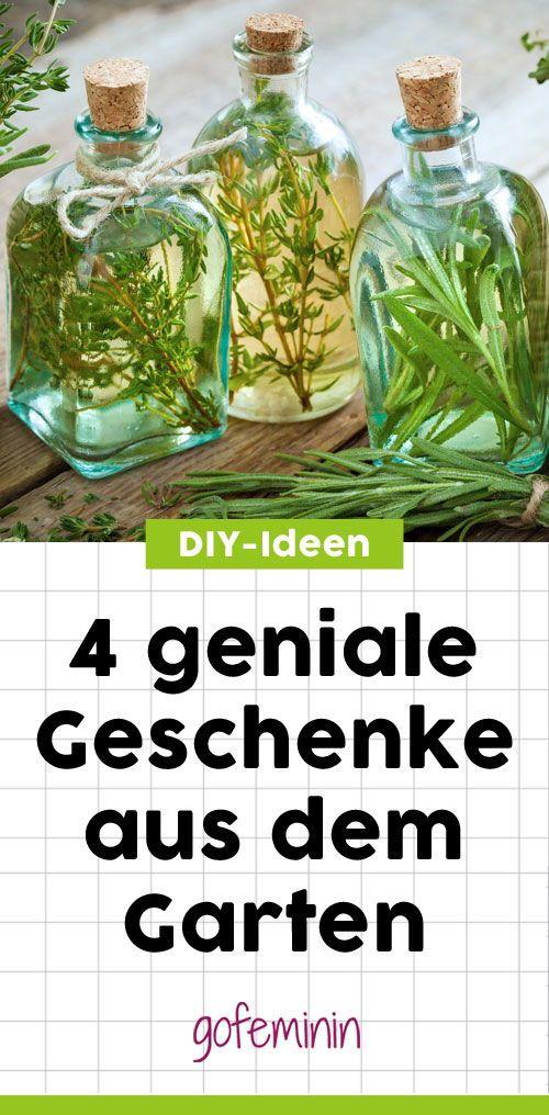 Geschenke Aus Dem Garten 5 Geniale Und Super Einfache Diy Ideen Diy Geschenke Garten Geschenk Garten Diy Ideen