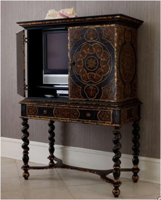 Hide Tv Inspiration Furniture Pinterest