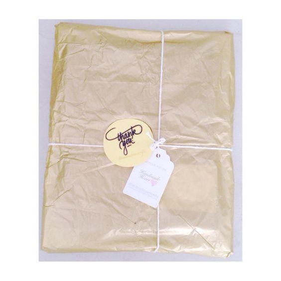 Packaging, thank you script @handmadeheartcrafts