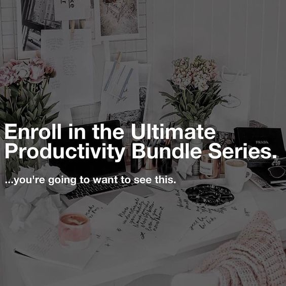Ready to make 2017 your most productive year EVER?!  (Link in Bio!)  SAVE and sign up as an Early Bird to our Ultimate Productivity Bundle Series!  This will expire SOON so take the opportunity to stop procrastination in its tracks and sign up now.  Ready to learn every single tip trick and hack in the book? You'll receive EVERYTHING you need over 14 Days to make this your most productive year ever. LINK IN BIO.  #bossbabe