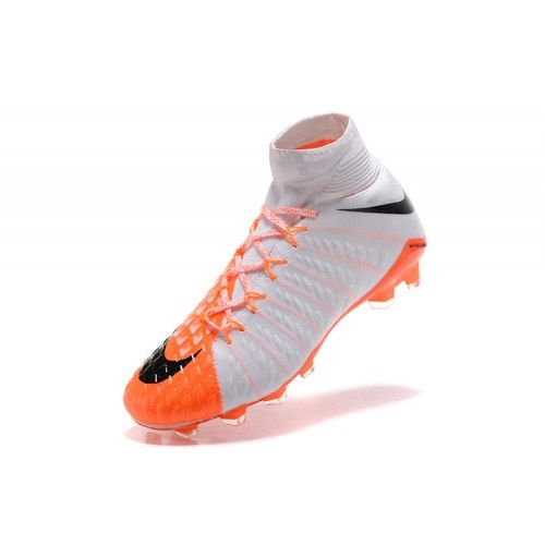 best authentic b150d a73d3 Bast 2017 Nike Hypervenom Phantom III DF FG Vit Orange Fotbollsskor