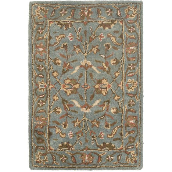 Handmade Heritage Nir Blue Wool Rug (2' x 3') | Overstock™ Shopping - Great Deals on Safavieh Accent Rugs