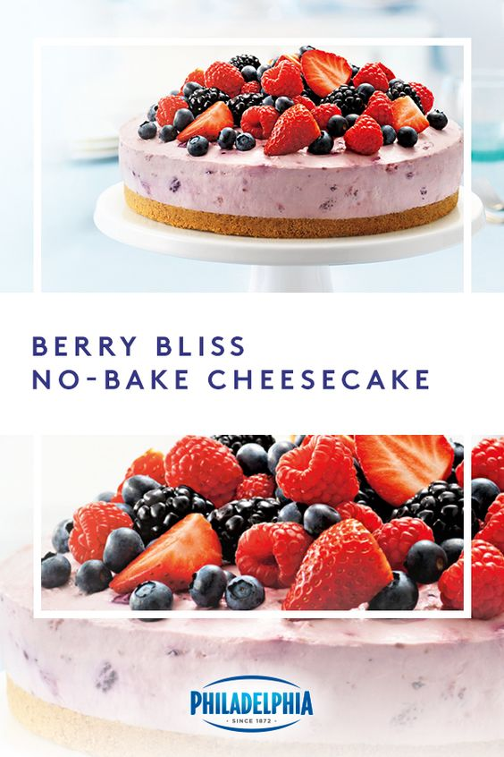 Make this summer-perfect berry cheesecake without turning on your oven. #ItMustBeThePhilly