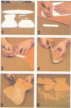 Armado de un bolso de cuero artesanal