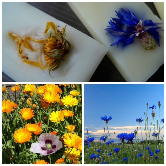 Beautiful floral inspired soaps