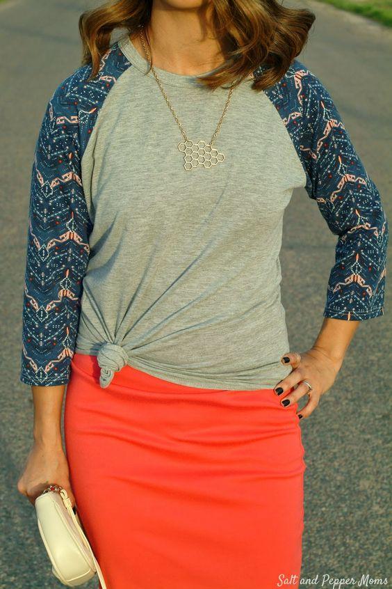 Randy Tee Outfit with LulaRoe #randytee | Fashion ...