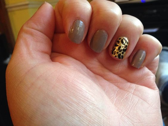 Leopard print gold and grey