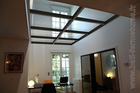 Garage on pinterest - Fermeture mezzanine verre ...
