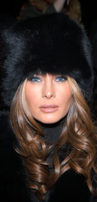 Melania - isnt she lovely!  So proud of our First Lady.  Total class!