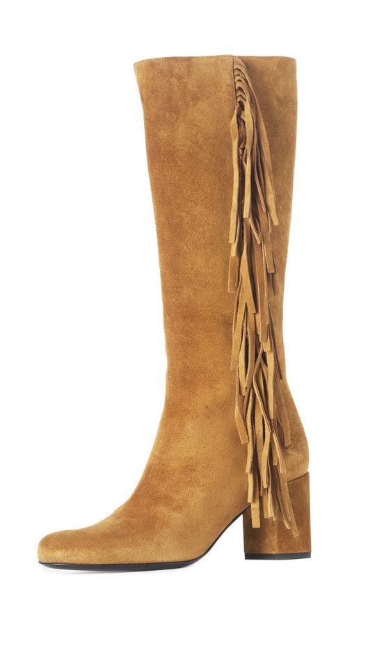 christian louboutin suede fringe-trimmed boots, men christian ...