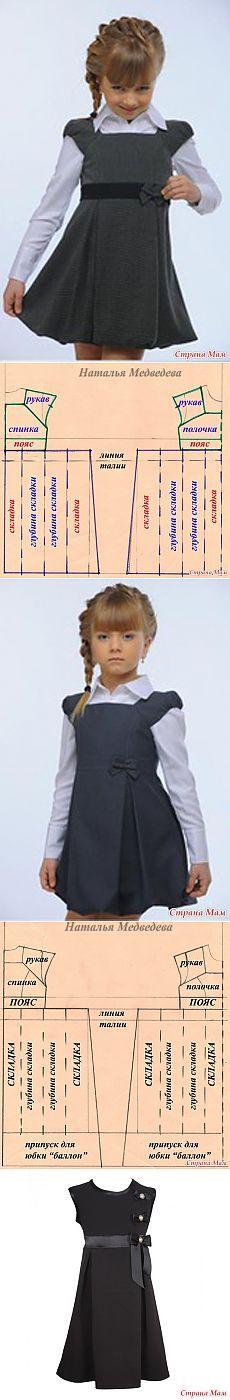 Modelado de las niñas.  Vestido de verano Escuela + -. Todo lecciones de costura ... modelaje, tecnología - casa las mamás: