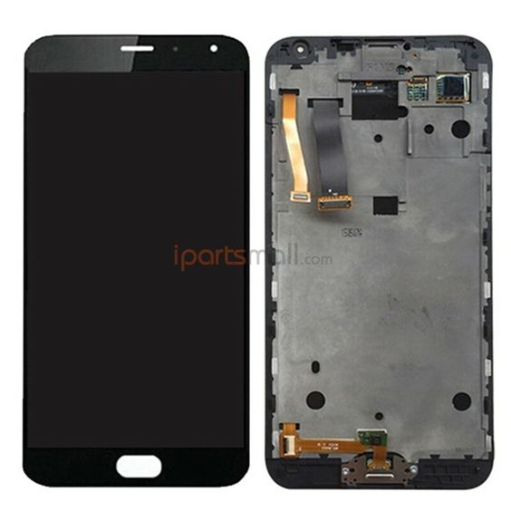 88.00$  Watch now - http://alitey.worldwells.pw/go.php?t=32766261395 - Original LCD Screen Display And Touch Digitizer With Front Frame Housing Assembly For Meizu MX5 Ship BY DHL EMS