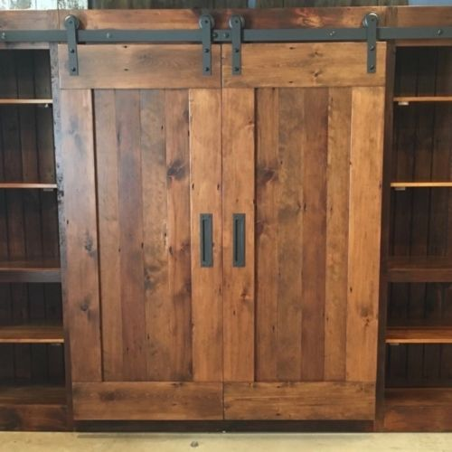 Loving This Hardware Custom Sliding Door Cabinet Made From Reclaimed Barn Wood Furniturefromtheba Barn Wood Cabinets Barn Door Cabinet Custom Cabinet Doors