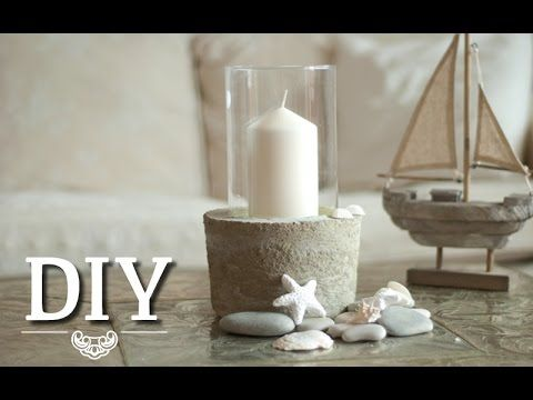 diy coole deko vase windlicht aus glas und beton selber. Black Bedroom Furniture Sets. Home Design Ideas