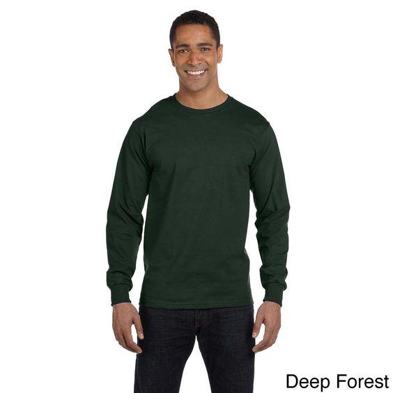Hanes Men's 'Beefy-T' 6.1-ounce Long Sleeve Shirt
