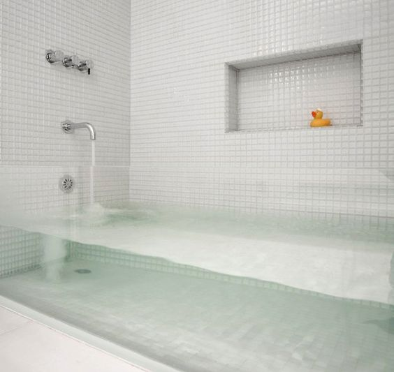 see through bathtub