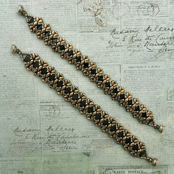 Linda's Crafty Inspirations: Bracelet of the Day: Dragonfly - Gold & Pewter II