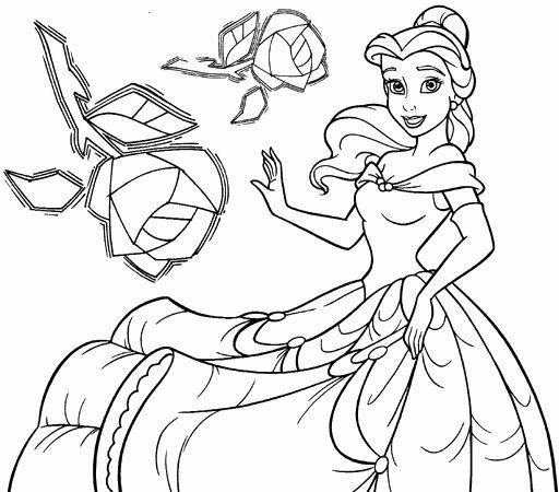 Disney Princesses Coloring Pages Beautiful Disney Princess Belle Coloring Pages To Kids Disney Princess Coloring Pages Princess Coloring Disney Princess Colors