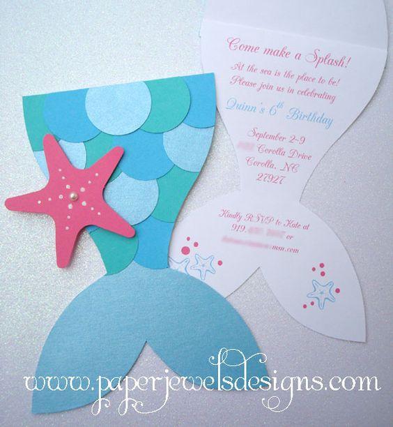"""""""Mermaid Splash"""" by Paper Jewels Designs - $2.75 each"""
