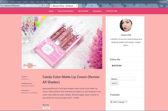 Read also: Candy Color Matte Lip Cream Review (Click the picture!)