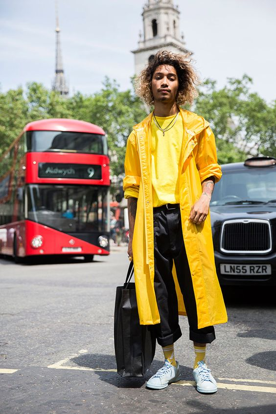 Image result for yellow trend men spring 2017 street style