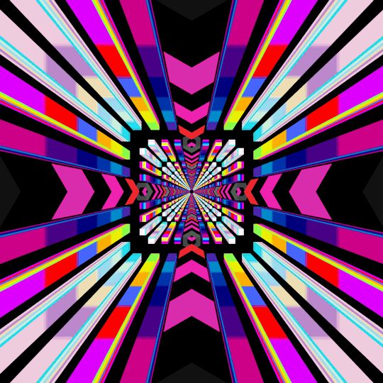 stained glass effect, animation by Hexeosis