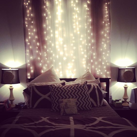 Fairy lights fairies and lights on pinterest for Room decor ideas with fairy lights