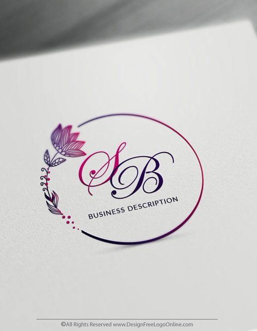 Free Vintage Logo Maker Create Your Own Flowers Logo Design Vintage Logo Maker Flower Logo Design Vintage Logo Design
