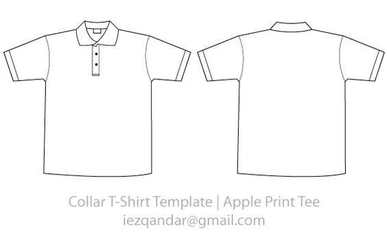 Collar TShirt Template Vector  Vector TShirt Templates