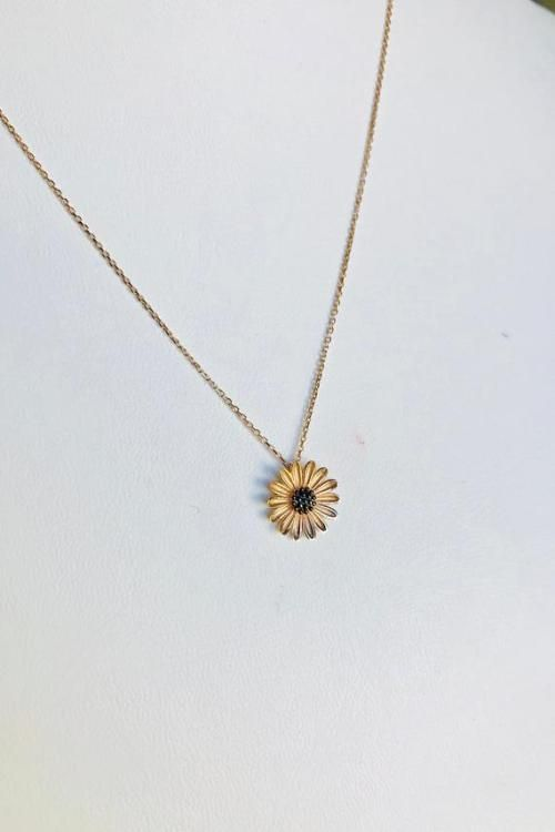 White Gold or Rose Gold Hand-made Gold Balloon NecklaceGold Necklace Available in 14k Gold