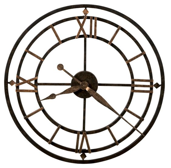 Stations Wrought Iron Roman Numeral Wall Clock - Wrought Iron, Wall Clock