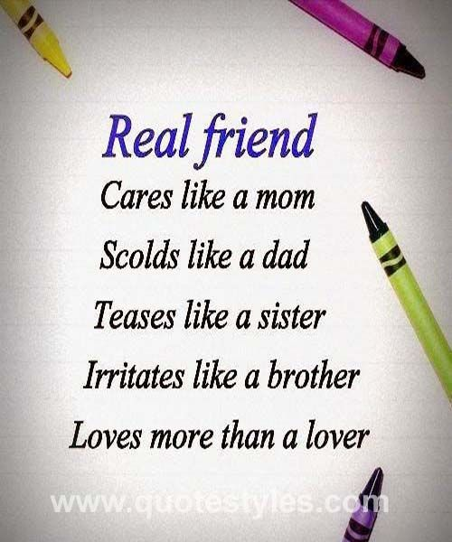 Real friends- Friendship quotes