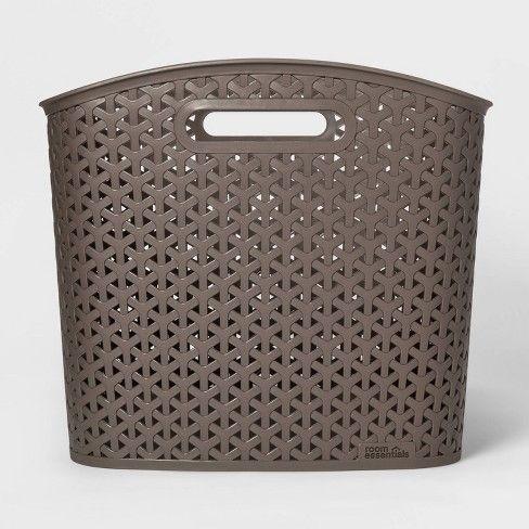 Xl Y Weave Curved Bin Room Essentials Room Essentials Brown Rooms Decor Essentials