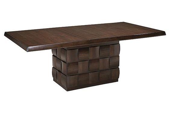 Dark Brown Chanella Table And Base 117900 Ashley Furniture