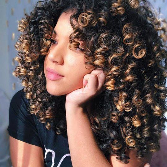 Hair Color Ideas That Ll Make This Summer Feel Totally Fresh For Blondes Brunettes And Redheads Curly Hair Styles Naturally Curly Hair Styles Colored Curly Hair