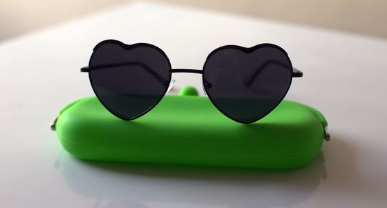 óculos Coração negro