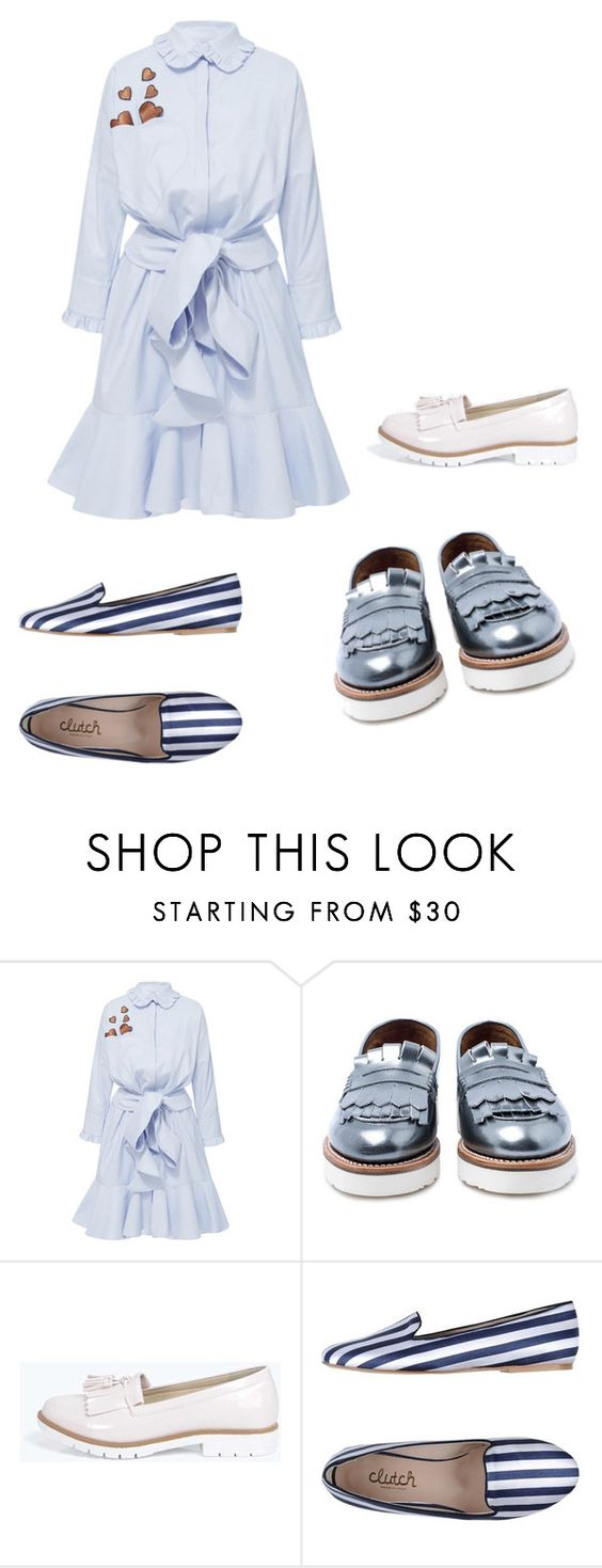 """"""""""" by julia-vayshlya ❤ liked on Polyvore featuring Maria Lucia Hohan, Grenson, Boohoo, women's clothing, women, female, woman, misses and juniors"""
