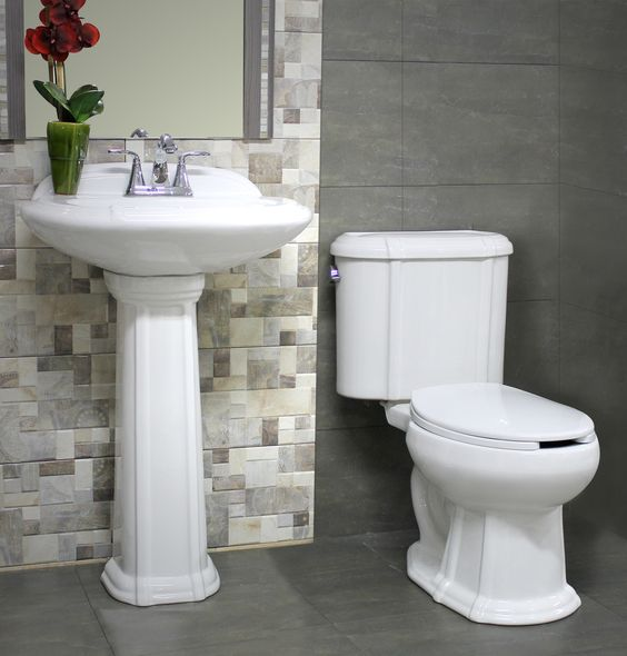 Pedestal on pinterest for Accesorios lavabo